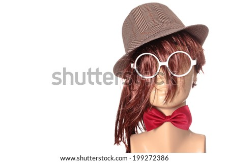 concept of what fashion should not be - stock photo