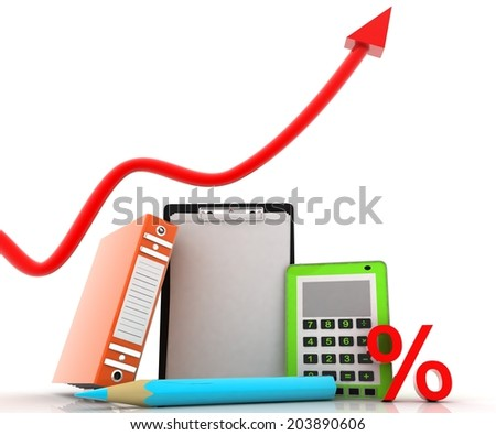 concept office - stock photo