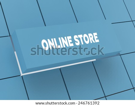 Concept ONLINE STORE - stock photo