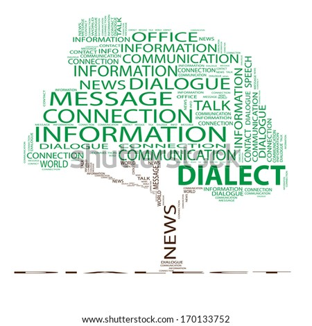 Concept or conceptual green tree word cloud on white background, metaphor for communication, speech, message, mail, relation, dialog, talk, report, contact, stair, climb, email, internet wordcloud - stock photo