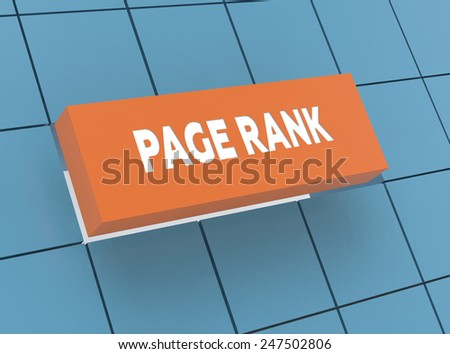 Concept PAGE RANK - stock photo