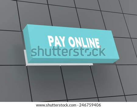 Concept PAY ONLINE - stock photo