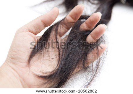 Concept photo for hair loss or cancer - stock photo