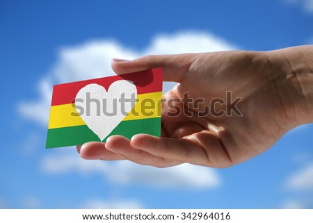 concept photo - Love for reggae music - stock photo
