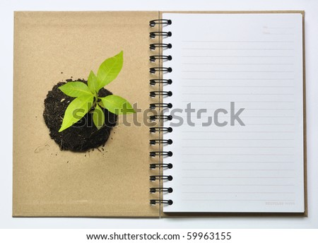Concept picture of recycle notebook for save environment - stock photo