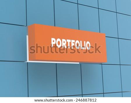 Concept PORTFOLIO - stock photo
