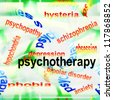 concept psychotherapy background - stock photo
