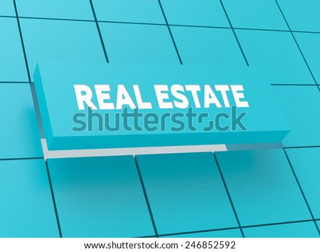 Concept REAL ESTATE - stock photo