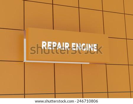 Concept REPAIR ENGINE - stock photo