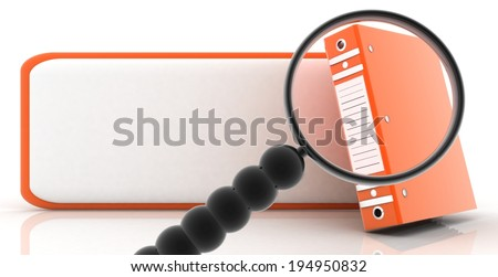 concept search (document folders) - stock photo