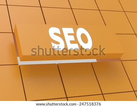 Concept SEO - stock photo