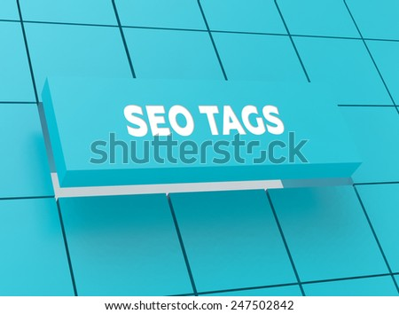 Concept SEO TAGS - stock photo