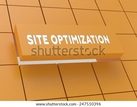 Concept SITE OPTIMIZATION - stock photo