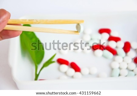 Concept soft focus medicine Life ,take pills medicine every day,Pharmaceutical preparations medicines & pills medicine ,soft focus medicine  - stock photo