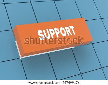 Concept SUPPORT - stock photo