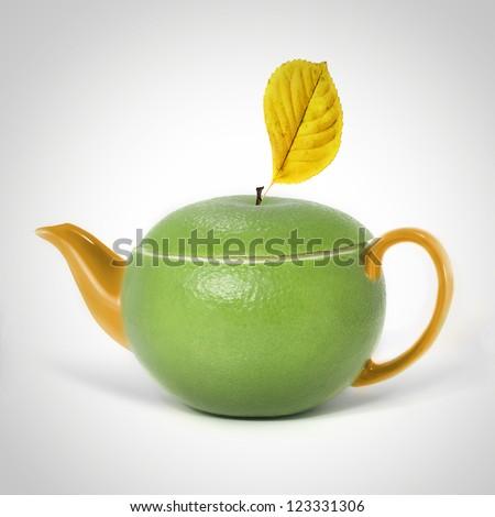 Concept sweetie teapot - stock photo