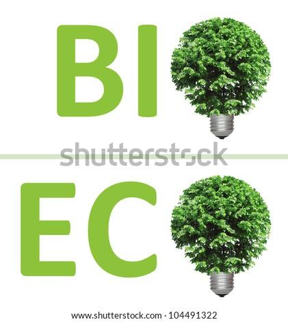 concept, symbolizing alternative green energy, bio and eco - stock photo