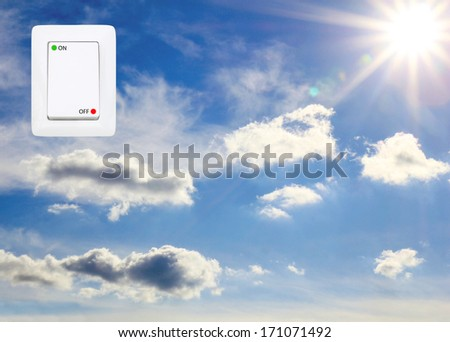 concept symbolizing the solar energy - stock photo