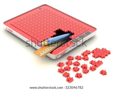 concept Tablet computer - stock photo