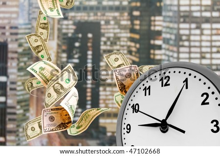 Concept - Time is money. Business Time. - stock photo