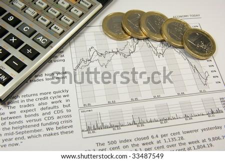 Concept towards economic situation - stock photo