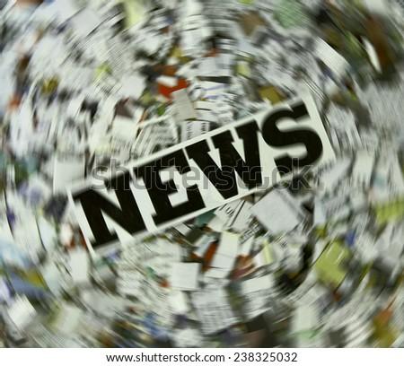 concept urgent News  - stock photo