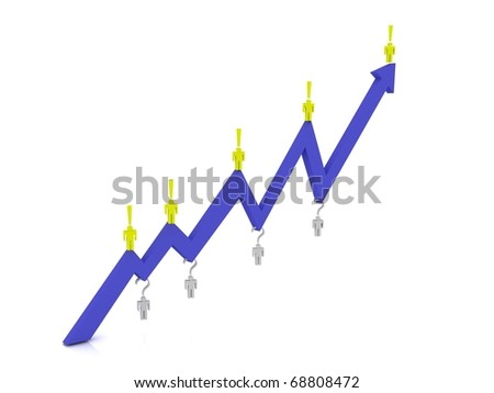 Concept working on finance market - stock photo