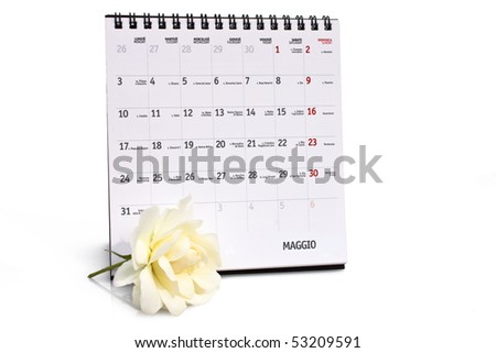 Concepts - Time. Months in the calendar - May. - stock photo