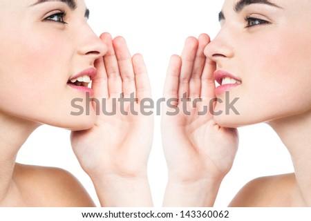 Conceptual and creative image. Secrets revealed - stock photo