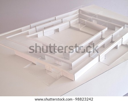 conceptual architectural model - stock photo