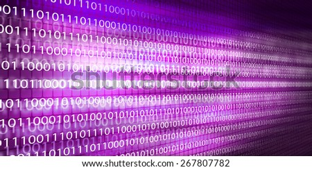 Conceptual background image with binary code. Safety concept - stock photo