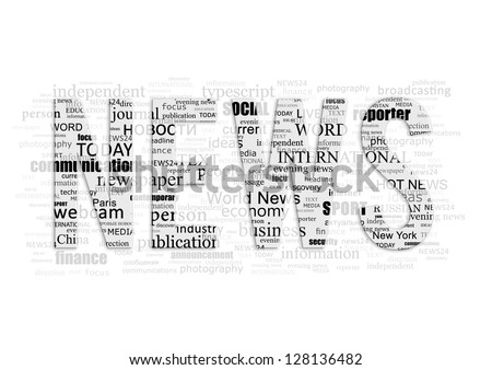 Conceptual background of the word NEWS type printing press - stock photo