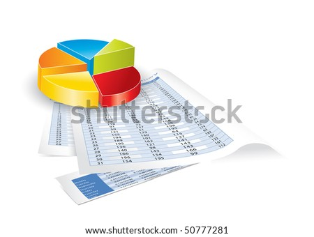 Conceptual business earnings reports and charts - stock photo