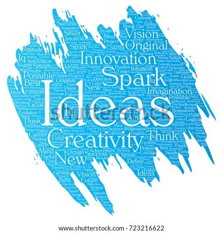 conceptual creative idea brainstorming paint brush stock