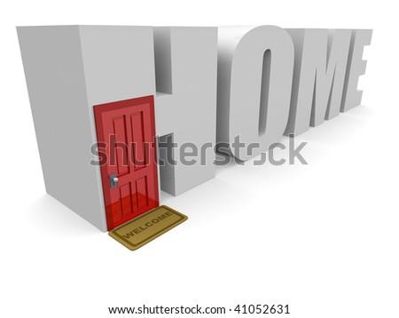 Conceptual 3d Home - stock photo