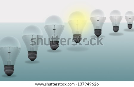 conceptual digital light bulb design  made in 3d software