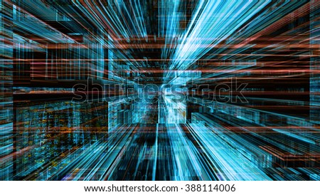 Conceptual futuristic technology digital light abstraction. High resolution illustration 10797. - stock photo