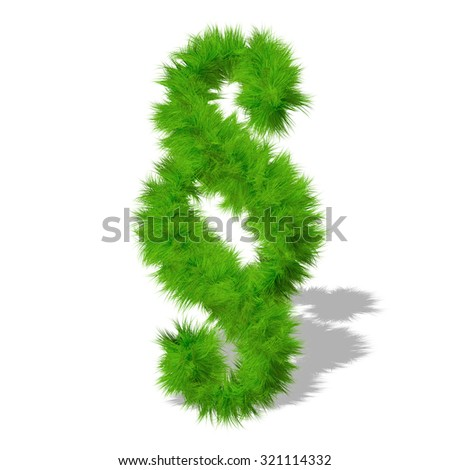 Conceptual green grass, eco orecology font, part of a set or collection on white background for nature, summer, spring, alphabet, ecology, environment, plant, winter, ecological, conservation design