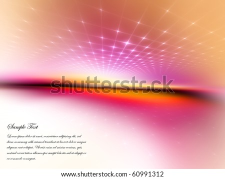 Conceptual grid on the subject of space, technology and movement. - stock photo