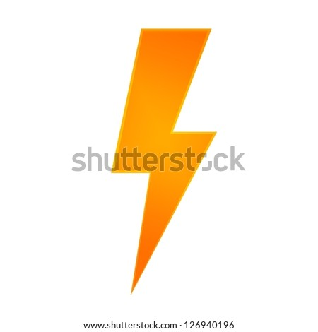 Conceptual illustration of lightning on a plane background - stock photo