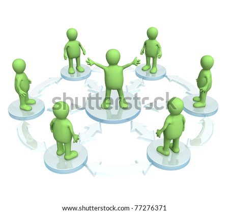 Conceptual image - a position of the leader - stock photo