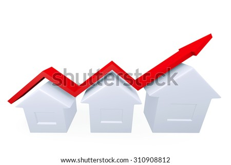 Conceptual image about the growth in the construction industry - stock photo