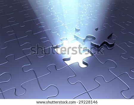 Conceptual image - an exit to the magic - stock photo