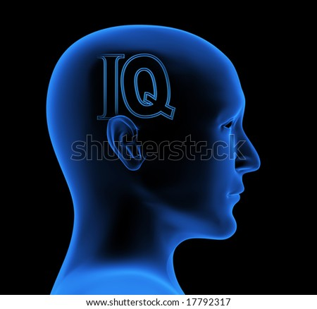 Conceptual image - an index of intelligence - stock photo