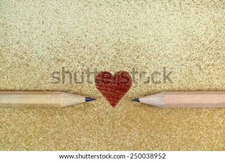 Conceptual image inspired by the celebration of Valentines day - stock photo