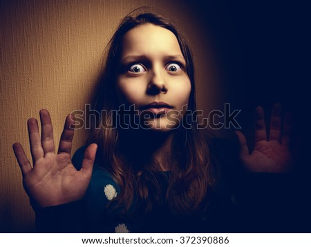Conceptual image of child abuse - stock photo