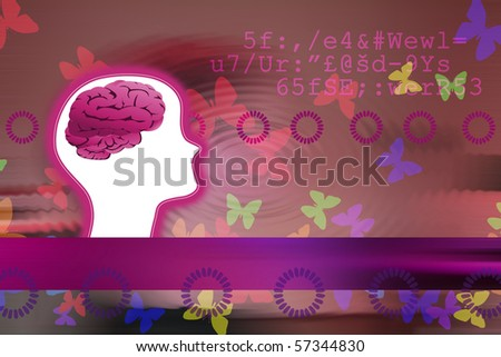 Conceptual image of creator's mind - stock photo