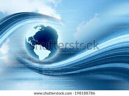 Conceptual image of global internet connection - stock photo