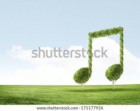 Conceptual image of green plant. Protect our planet - stock photo