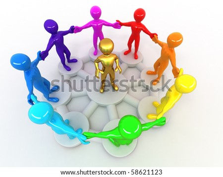 Conceptual image of Leadership. 3d - stock photo